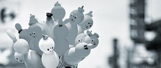 Balóny, katalóg veľkostí a farieb